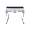 Edra Distressed Painted Console Table with Hand Carved Wood 3