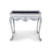 Edra Distressed Painted Console Table with Hand Carved Wood 2