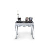 Edra Distressed Painted Console Table with Hand Carved Wood 4