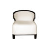 Edward Upholstered Wing Armchair with Black Wood Frame 1