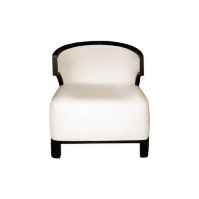 Edward Upholstered Wing Armchair with Black Wood Frame