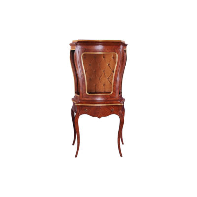 Eggleton Antique French Style Display Cabinet with Luxury Tufted Velvet Fabric