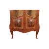 Egner Elegant French Style Display Cabinet with Tufted Upholstery 2