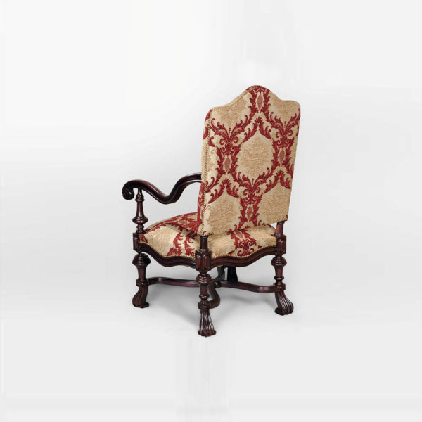 Elegant English Occasional Chair Back