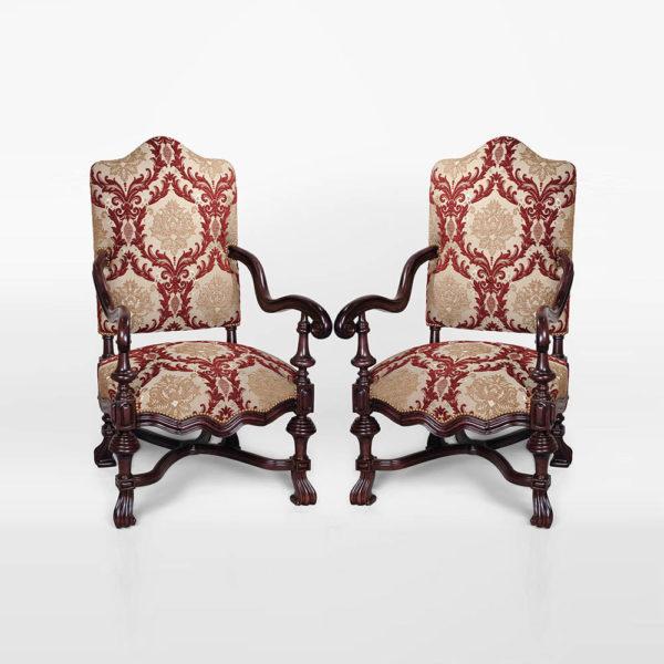 Elegant English Occasional Chair Set