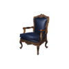 Elegant English Style Armchair Natural Leather Upholstery 1