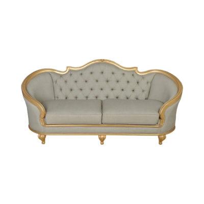 Elegant Gilded French Sofa