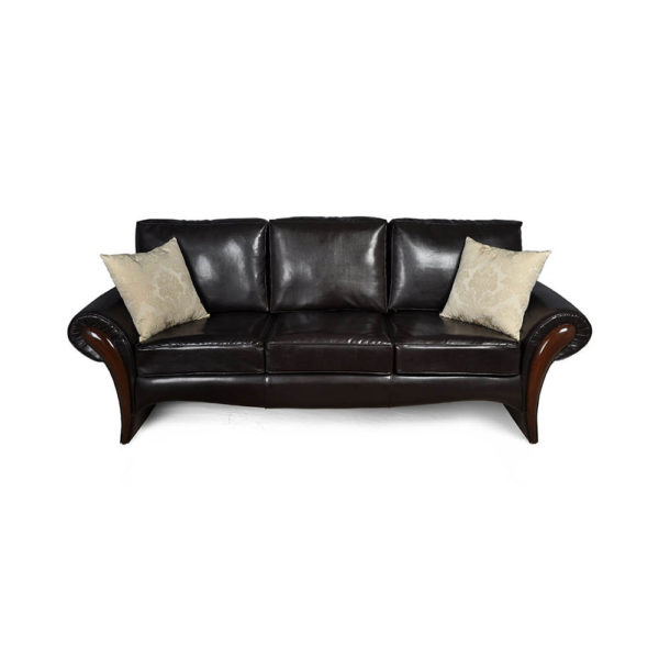 Elegant Living Room Leather Sofa Cushion Sofa