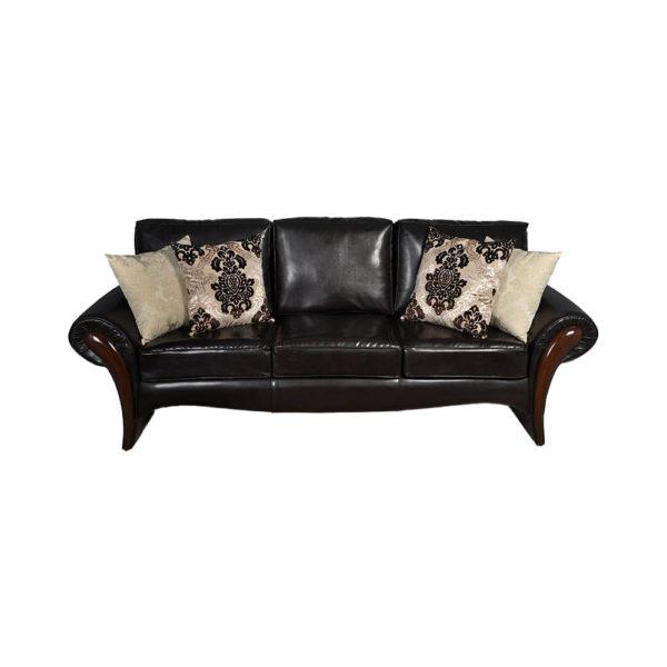 Elegant Living Room Leather Sofa Cushions Sofa