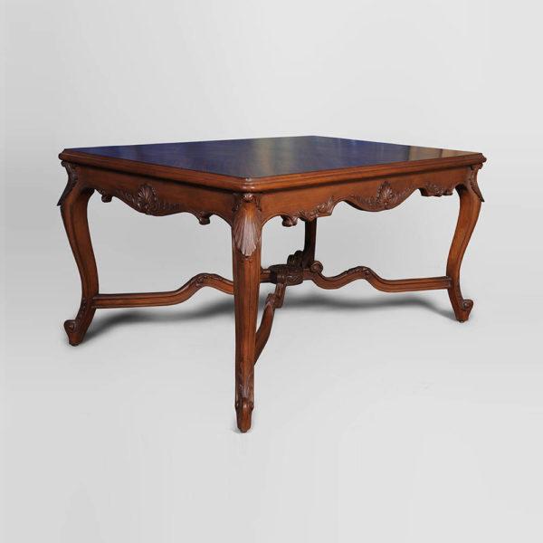 Elegant Natural Veneer Top Coffee Table