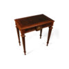 Elegant Side Table with Handcrafted Marquetry Veneer Inlay 1