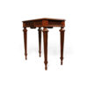 Elegant Side Table with Handcrafted Marquetry Veneer Inlay 5