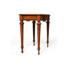Elegant Side Table with Handcrafted Marquetry Veneer Inlay 3
