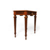 Elegant Side Table with Handcrafted Marquetry Veneer Inlay 2