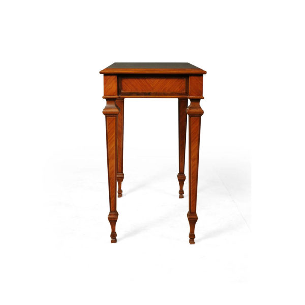 Elegant Side Table with Handcrafted Marquetry Veneer Inlay Side