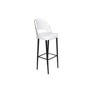 Emil Upholstered Bar Stool with Back Side View