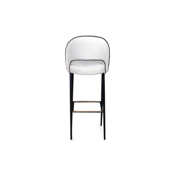 Emil Upholstered Bar Stool with Back View