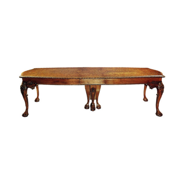 English Antique Chippendale Style Dining Table
