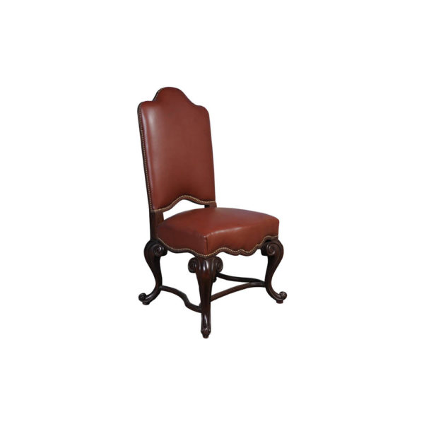 English Dining Chair with Upholstery Genuine Leather