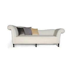 Ethan Upholstered Curved 2 Seater Sofa Cushions