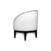 Francesco Round Upholstered Occasional Chair with Curved Back 5