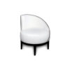 Francesco Round Upholstered Occasional Chair with Curved Back 4