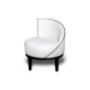 Francesco Round Upholstered Occasional Chair with Curved Back 3