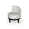 Francesco Round Upholstered Occasional Chair with Curved Back 2