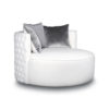 Frank Upholstered Round Button Tufted Accent Chair 4