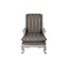 French Armchair with Hand Carved Detailed and Distressed Paint 1