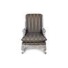 French Armchair with Hand Carved Detailed and Distressed Paint 2