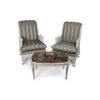 French Armchair with Hand Carved Detailed and Distressed Paint 4
