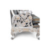 French Armchair with Hand Carved Detailed and Distressed Paint 7