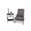 French Armchair with Hand Carved Detailed and Distressed Paint 3