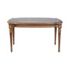 French Coffee Table Top Glass Detailed Hand Carved Wood 1