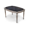 French Coffee Table Top Glass Detailed Hand Carved Wood 3