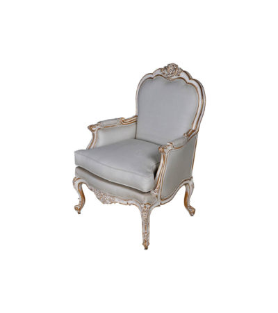 French Distressed Painted Armchair