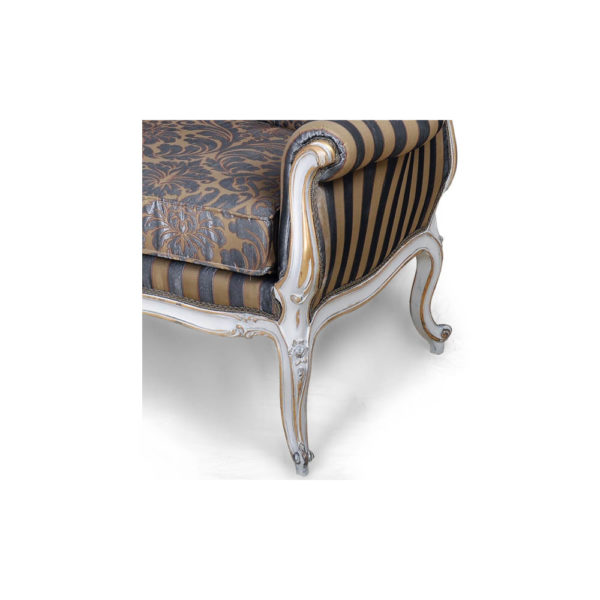 French Love Seat Grey Seating and Chairs Leg