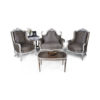 French Gray Love Seat 3