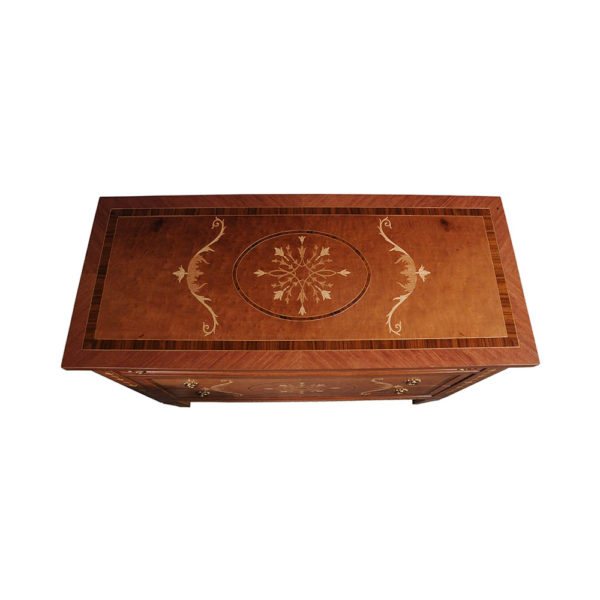 French Marquetry Chest Veneer Inlay Top View