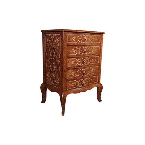 French Marquetry Chest of Drawers with Luxury Marquetry Natural Veneer Inlay