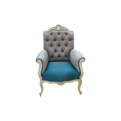 French Painted Wing Back Armchair