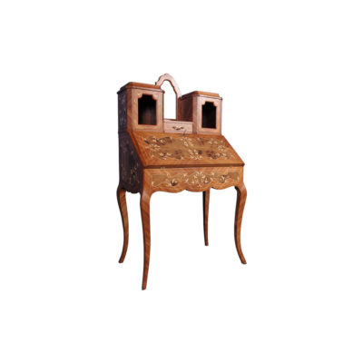 French Reproduction Secretary Light Marquetry
