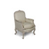 French Style Arm Chair in Distressed Frame Finish 1