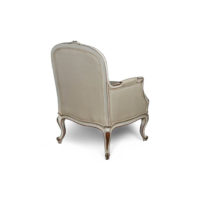 French Style Arm Chair in Distressed Frame Finish Back