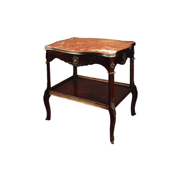 French Style Marble Top Side Table