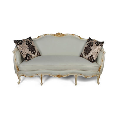 French Style Sofa Gilded with Cushions