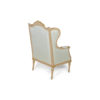 French Style Wing Back Armchair with Hand Carved Wood 6