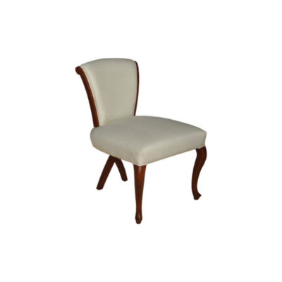Gavin Upholstered High Back Dining Chair with Cross Legs