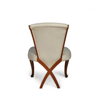 Gavin Upholstered High Back Dining Chair with Cross Legs Back